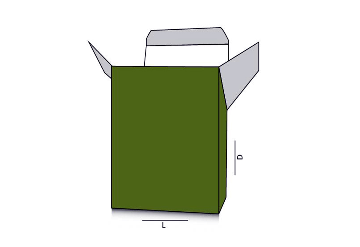 Slope Top Reverse Tuck End